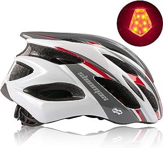 Shinmax Casco Bici MTB con Visiera e Luce di LED Rimovibile