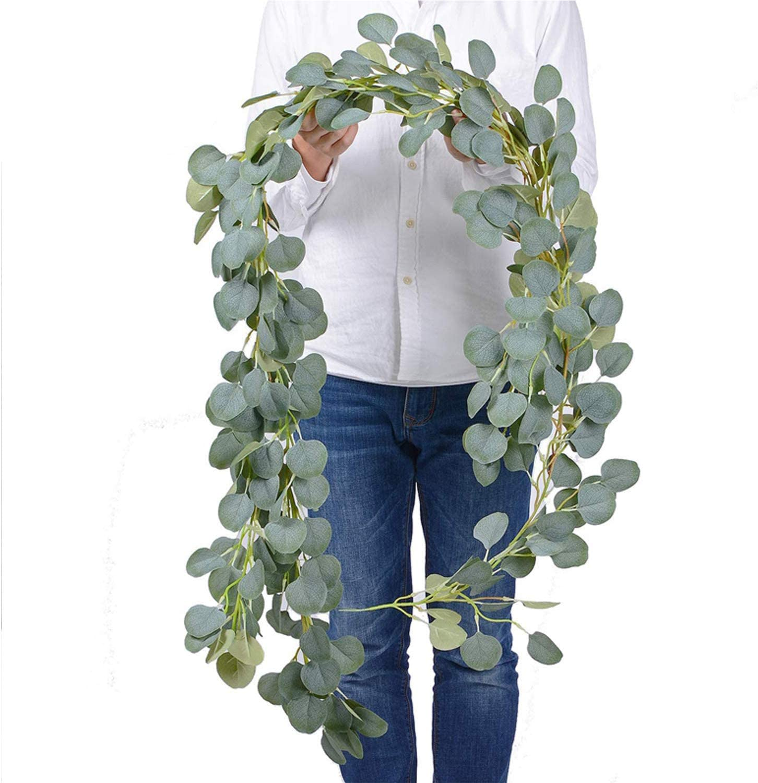 Artificial Eucalyptus Garland2 Packs Faux Silk Eucalyptus Vines Artificial Garland Greenery