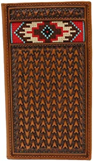 Ariat Men's Western Inlay Rodeo Wallet Tan One Size