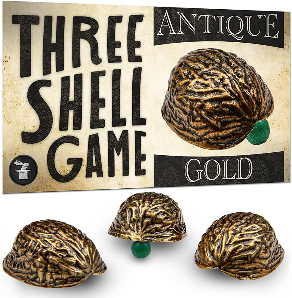 Three Shell Game Magic Trick Gold Portland Popular overseas Mall Color - Antique