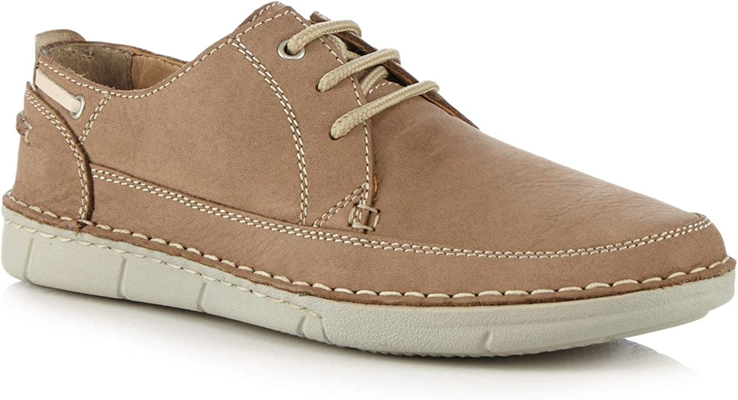 Henley Comfort Men Brown Leather Lace Up shoes