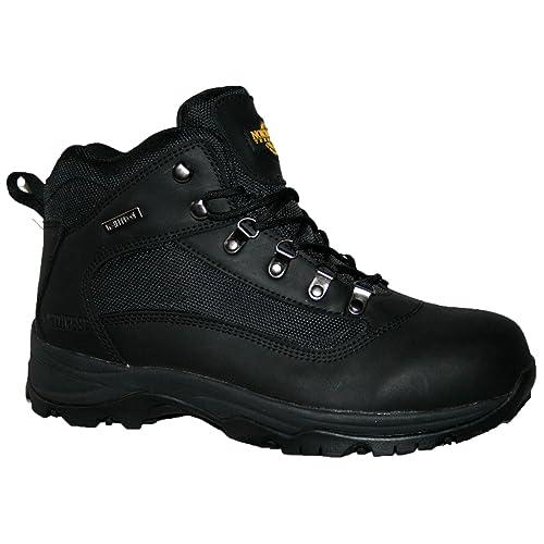 70209bf4870 Black Leather Walking Boots: Amazon.co.uk