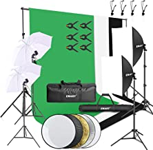 Emart 8.5 x 10 ft Backdrop Support System, Photography Video Studio Lighting Kit Umbrella Softbox Set Continuous Lighting ...