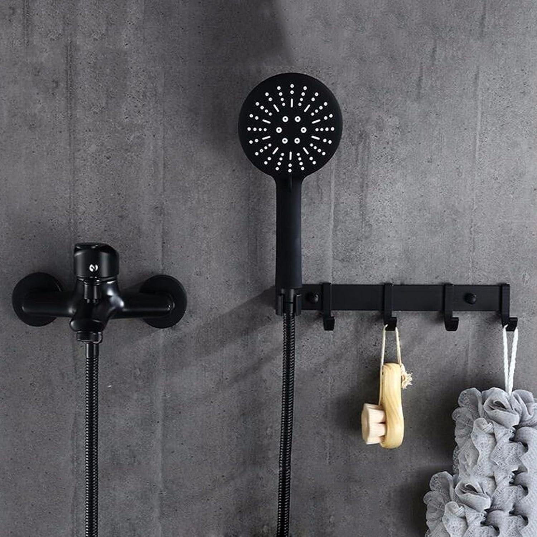 Gyps Faucet Waschtisch-Einhebelmischer Waschtischarmatur BadarmaturDie Gehuse aus Messing Schwarz Dusche Badewanne Wasser Unter Druck Wasserhahn Dusche aus der Stanze Stehen Eine Reihe,Mischbatte
