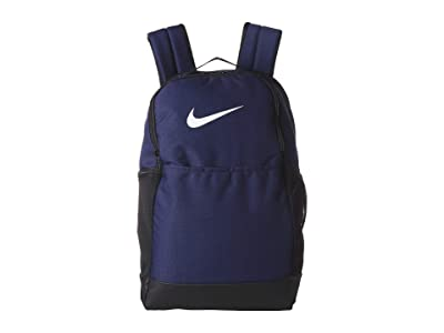 Nike Brasilia Medium Backpack 9.0 (Midnight Navy/Black/White) Backpack Bags
