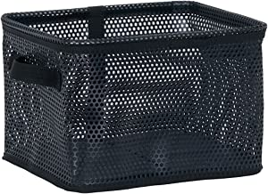 Household Essentials Eva Mesh Storage Basket Tote, Small, Black