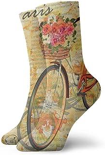 Hunter qiang, Newspaper - Calcetines deportivos para mujeres y hombres, diseño de París, 30 cm