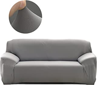 Cornasee Funda de sofá Elastica 4 plazas,Cubierta para sofá con Cuerda de fijación,Gris