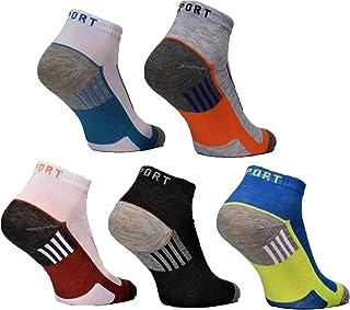 BestSale247, 12paia di calzini fantasmini da uomo, per sport e tempo libero, in cotone, taglia 39-42, 43-46