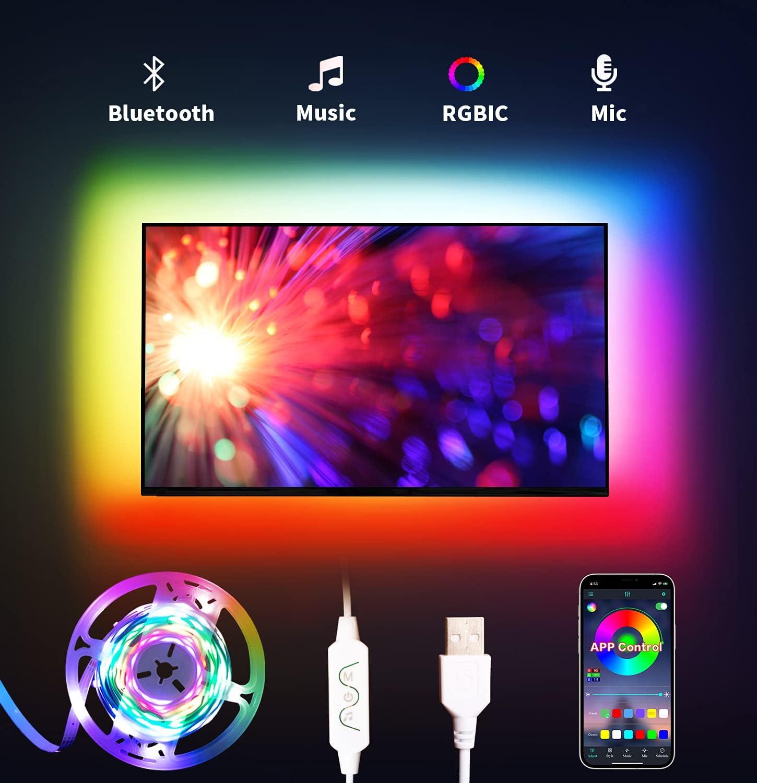LED Lights mart for TV Led 9.8FT Backlight Max 45% OFF RGB DAYMEET
