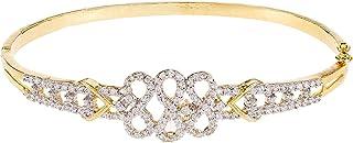 Aurora Women's Alloy Cubic Zirconia Charm Bracelet
