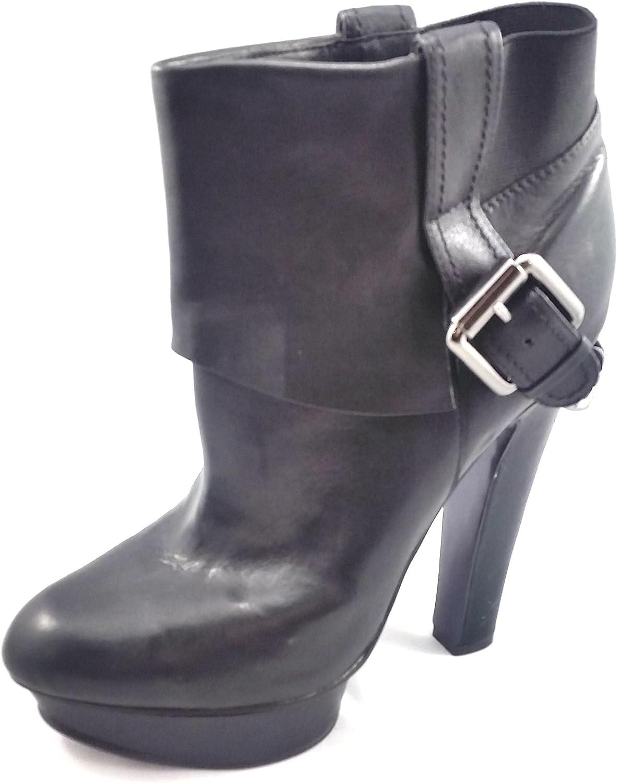 Donald J Pliner Womens Ginger 21 Dress Boot. Black Vintage Calf Leather. US 9.5