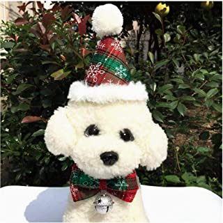 Vevins Dog Cat Christmas Costume Hat Scarf Pet Cosplay Funny Clothes for Puppy Kitten Small Dog