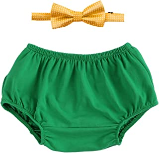 Cake Smash Outfits Baby Boy First Birthday Bowtie Bloomers 2PCS Set Photo Props OBEEII