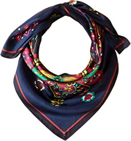 New Dehli Silk Square Scarf