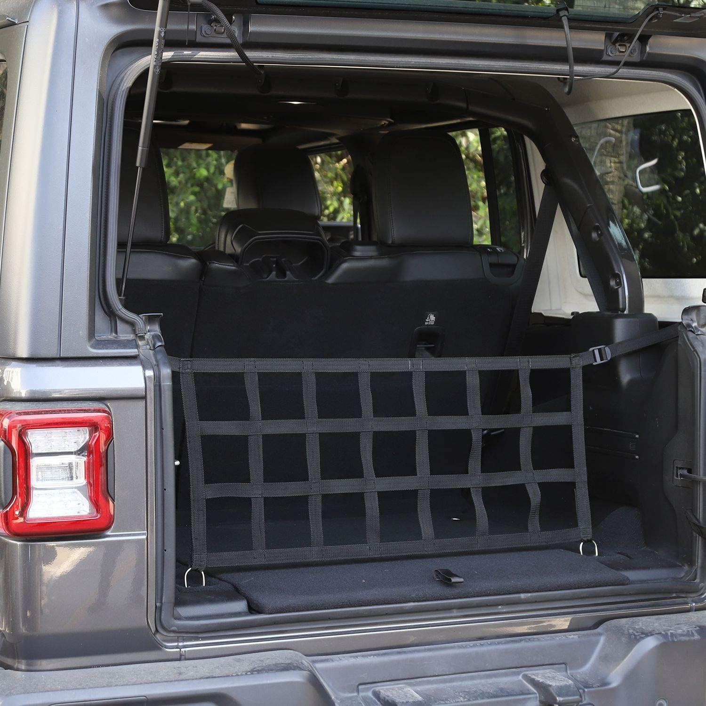 Mesh Cargo Net for 2018-2020 Jeep Wrangler JL JLU 2 Door /& 4 Door Black Car Trunk Net