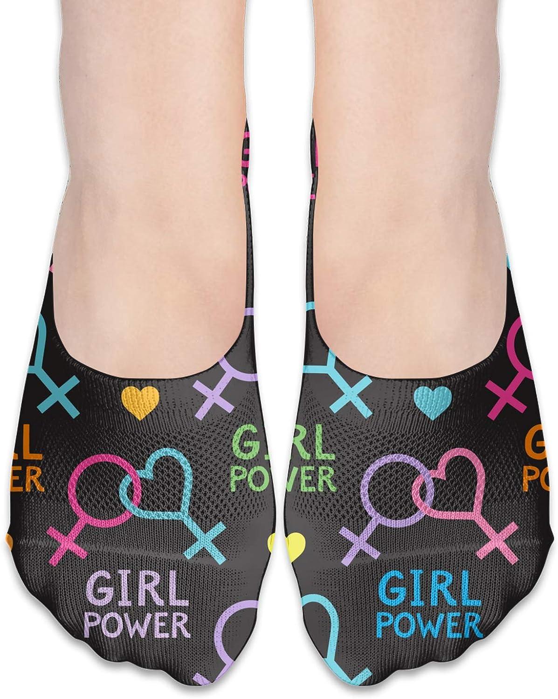 Lesbian And Feminist Symbols Comfortable Boat Socks-Sweat Wicking Non-Slip Socks Leisure Sports Deodorant Foot Socks