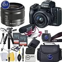 Canon EOS M50 Digital Mirrorless Camera K&M Bundles ([Video Creator] EOS M50 w/15-45mm, Black)