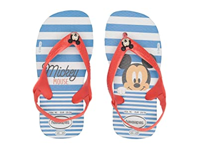 Havaianas Kids Baby Disney Classics Flip-Flop (Toddler) (White/Strawberry) Kids Shoes