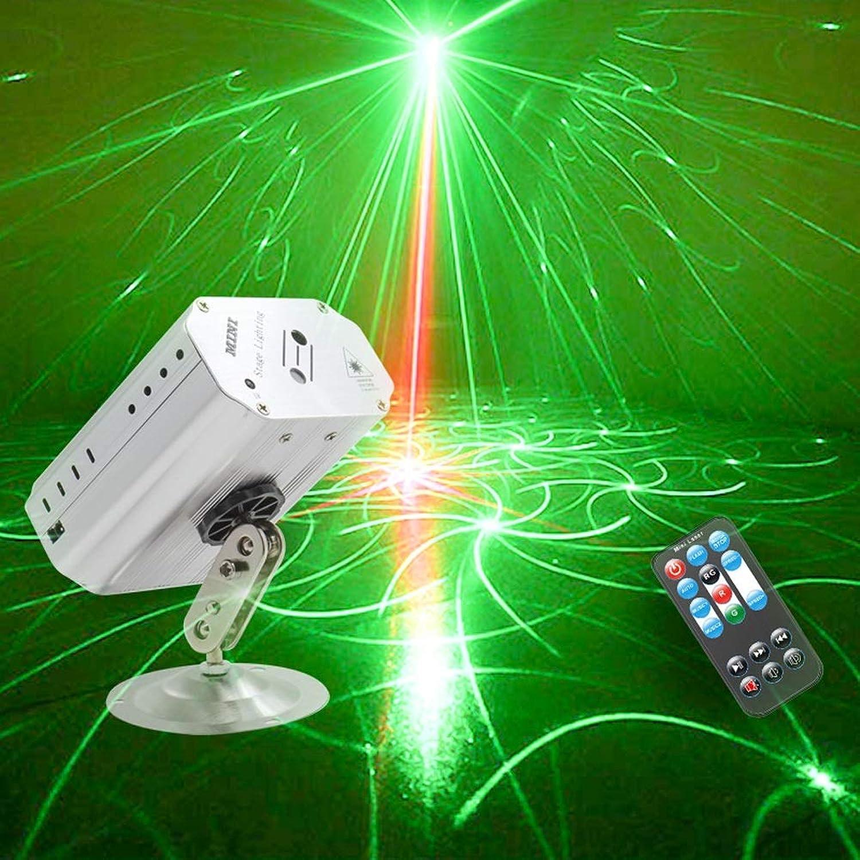 Party Lichter RGB 2 Linse 24 Muster Projektor DJ Disco Licht Mini LED Stroboskop Licht Sound aktiviert Bühnenlicht Innen für Geburtstagsfeiern Hochzeit Karaoke KTV Bar Weihnachtsfest -617