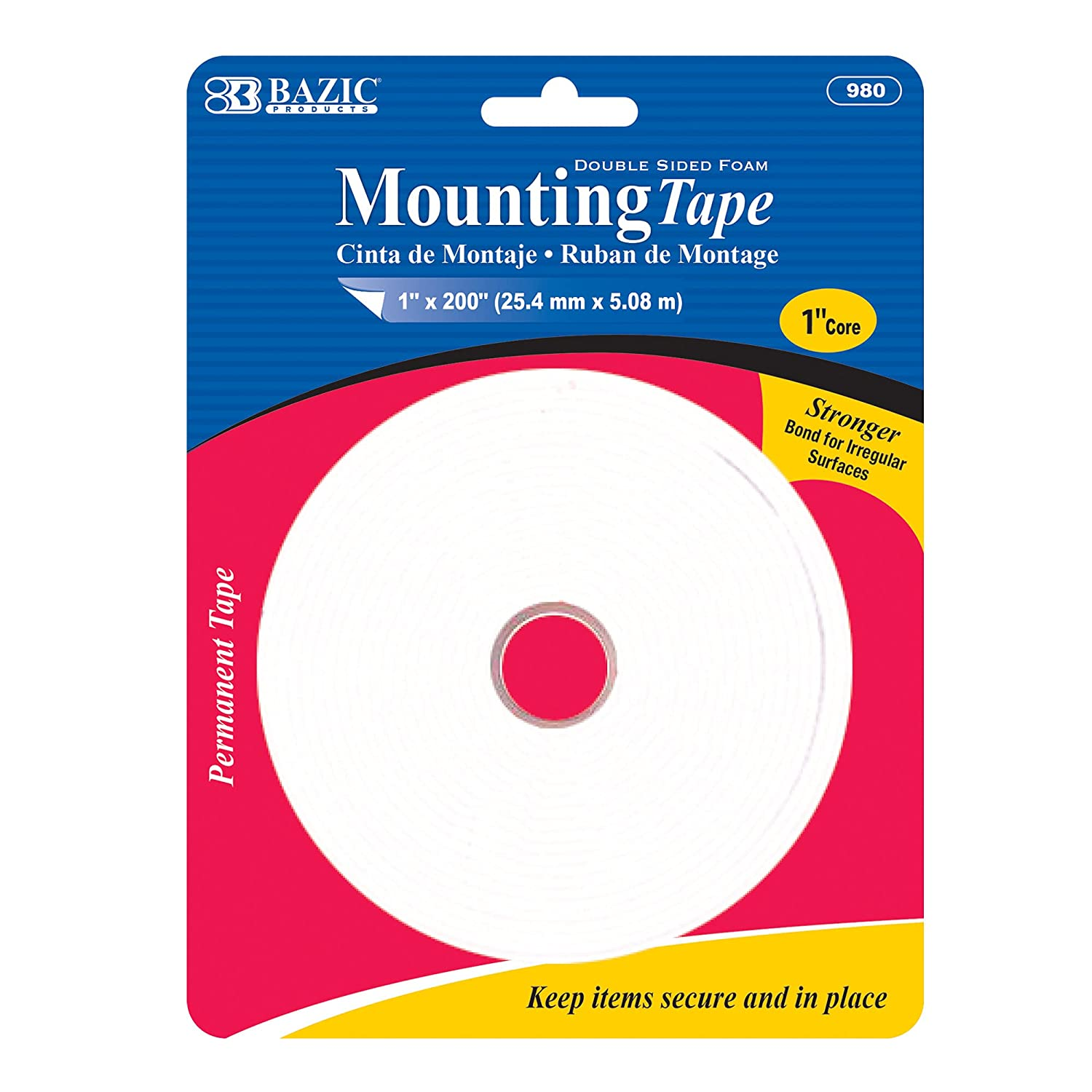 BAZIC Double Recommendation Spasm price Sided Foam Mounting Tape Solven X 1