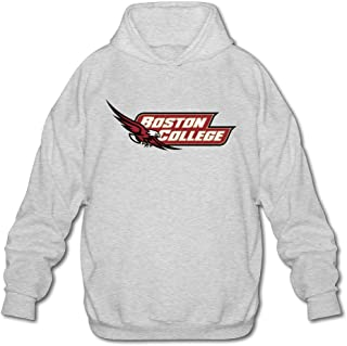 Men's Boston College Hockey Logo Hoodie Sweatshirt Ash