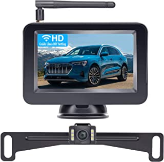 DoHonest Wireless Backup Camera and 4.3'' Monitor Kit, HD Color, Suitable for Cars,SUVs,Minivans,UTVs IP69 Waterproof Rear... photo