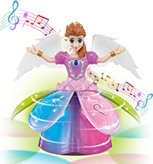 Sponsored Ad - ATS Fairy Princess Dolls Toys Dancing Rotating Singing Musical Toy for Girls Battery Operated Bump-N-Go wit...