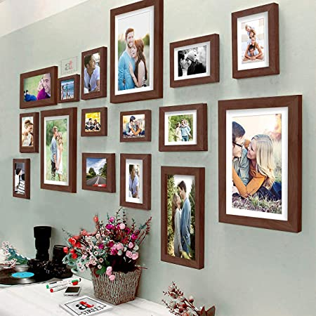 Art Street Photo Frame for Wall Photo Frame Collage Set of 16 Pcs Picture Frame Set For Home & Wall Decoration , Color - Brown , Mix Size- 4x6 , 5x7 , 6x8 , 6x10 , 8x10 Inches