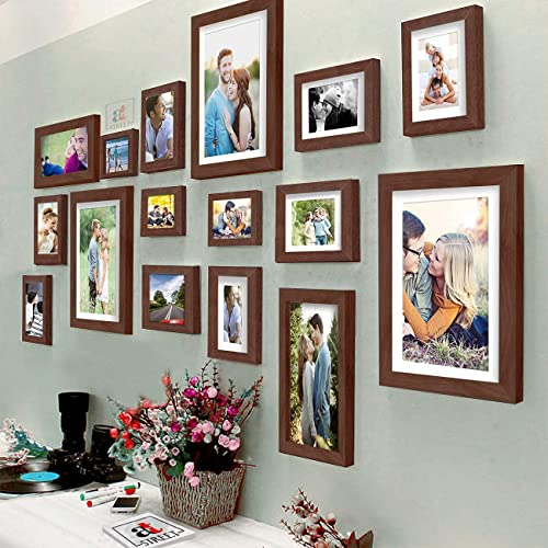 Art Street Photo Frame for Wall Photo Frame Collage Set of 16 Pcs Picture Frame Set For Home & Wall Decoration , Colo...