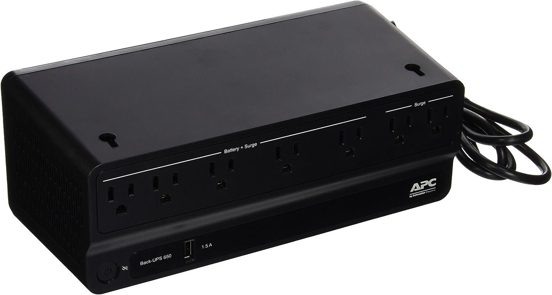 APC 2259351 Back-UPS 650 Battery Backup and Surge Protector Black (BN650M1)