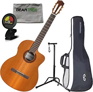 Cordoba C5-CE Electric Nylon String Guitar w/Cloth, Stand, Tuner, and Gig Bag