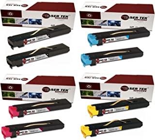 Laser Tek Services Compatible Xerox 7755 Toner Cartridge Replacement for the Xerox 006R01219, 006R01222, 006R01221, 006R01220. (2x Black, 2x Cyan, 2x Magenta, 2x Yellow, 8-Pack)