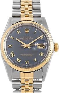 Box & Papers - Rolex 16013 Men's 36mm Datejust Model - Blue Roman Dial - Jubilee Bracelet (Certified Pre-Owned)