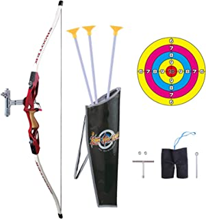 Juego de arco y flecha Pickwoo Archery 1 / 1.8 Arco para niños, juego de juego de arco y flecha para niños y niñas, juego ...