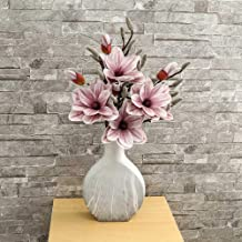 YATAI Pack of 6 Yulan Magnolia Artificial Flowers Spray Artificial Plants Leaf Silk Flowers Wholesale Fake Flowers for Hom...