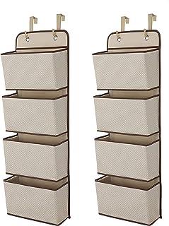 Delta Children 4 Pocket Over The Door Hanging Organizer - 2 Pack, Easy Storage/Organization Solution - Versatile and Acces...