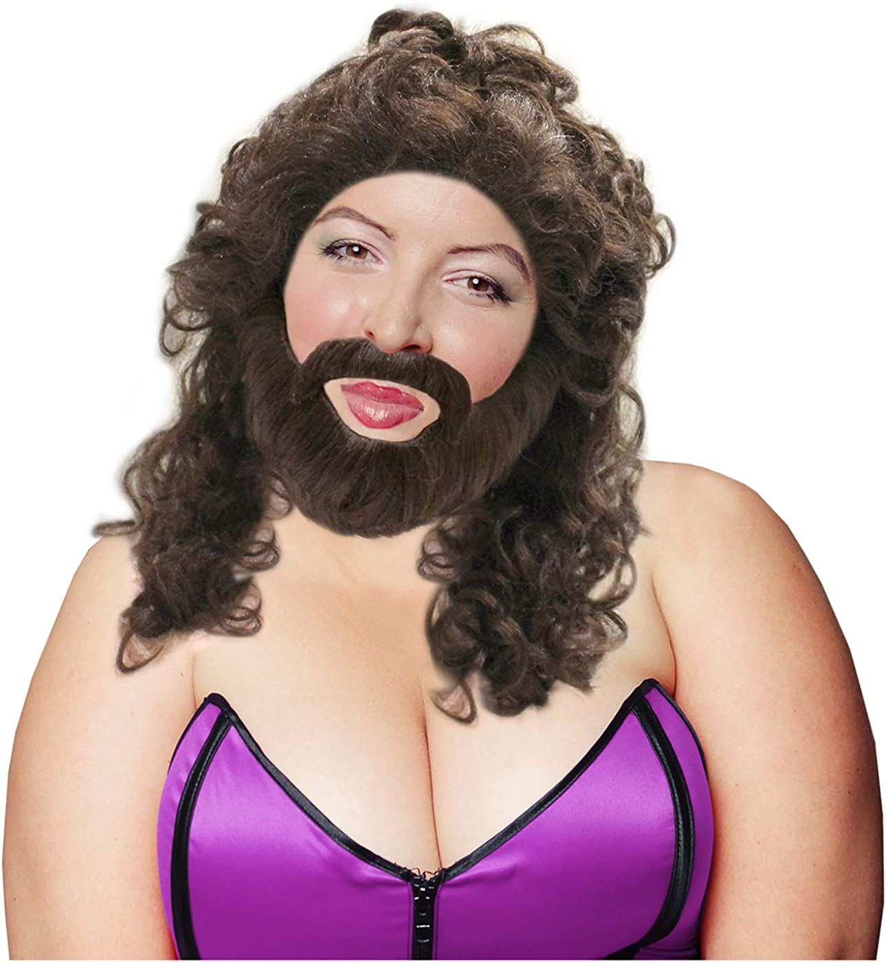 Manufacturer regenerated product Costume Adventure Bearded Lady Beard Mustache Wig Same day shipping Se and