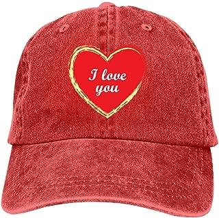 LeoCap I Love You Baseball Cap Unisex Washed Cotton Denim Hat Adjustable Caps Cowboy Hats