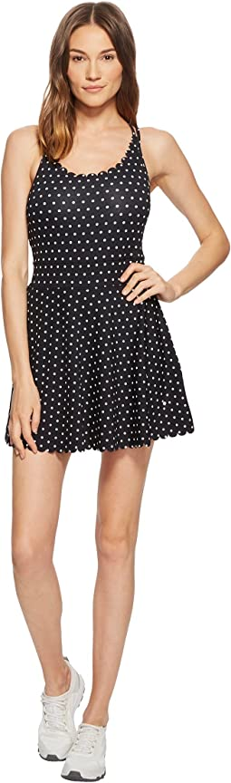 Polka Dot Scallop Dress