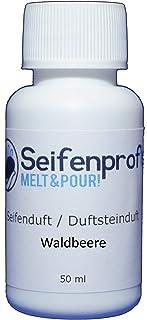 Seifenprofis Savon parfumé huile parfumée grand choix pour verser du savon 50 ml (fraise des forêts)