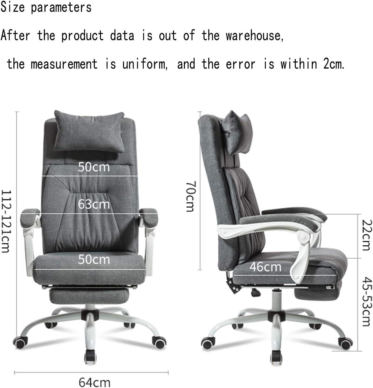 Chaise de Bureau Patron Chaise président Gaming Fauteuil Inclinable Tissu Chaise pivotante Tabouret Chaise de Bureau Simple Ménage Chaise Informatique Grey Beige
