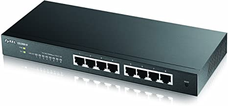 Zyxel 8-Port Gigabit Smart Managed Switch - Fanless Design - Sturdy Metal - Limited Lifetime Protection [GS1900-8]
