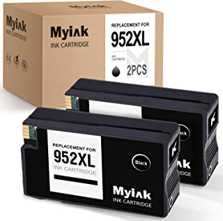 MYIK Remanufactured Ink Cartridge Replacement for Hp 952 952XL to Work with Officejet Pro 8710 8740 8720 7720 8200 8210 8715 8730 8720 (2 Black)