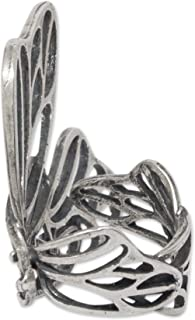925 Sterling Silver Butterfly Ring, Monarch Wings'