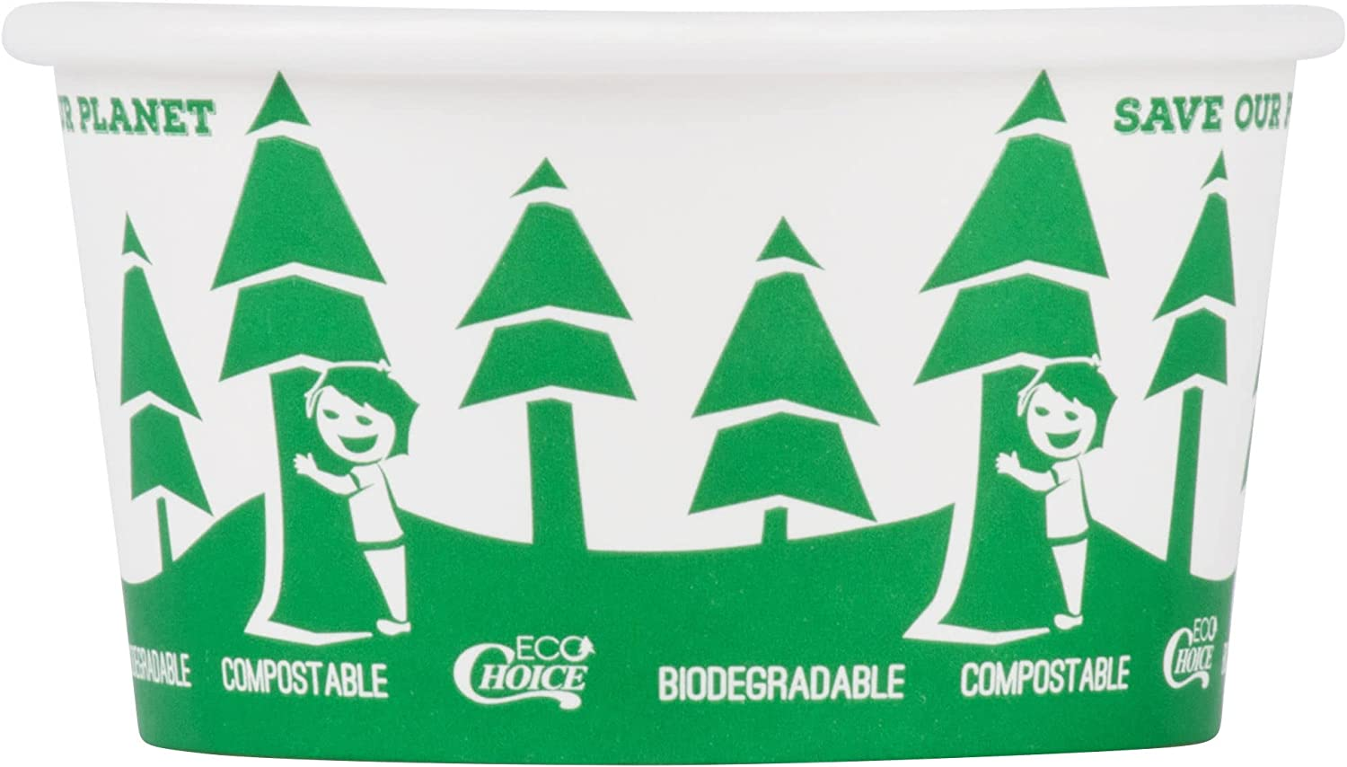 Rapid rise TableTop King 12 oz. Compostable Paper and Soup Deluxe Biodegradable Ho