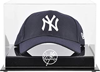 New York Yankees Acrylic Cap Logo Display Case - Baseball Hat Free Standing Display Cases