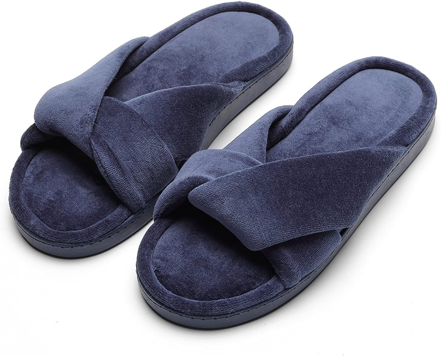 Women's Slippers Comfort Cozy Velvet Memory Foam Slippers for Spa Home Bedroom