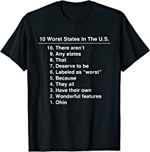 Ohio Is The Worst State Ever Funny T-Shirt