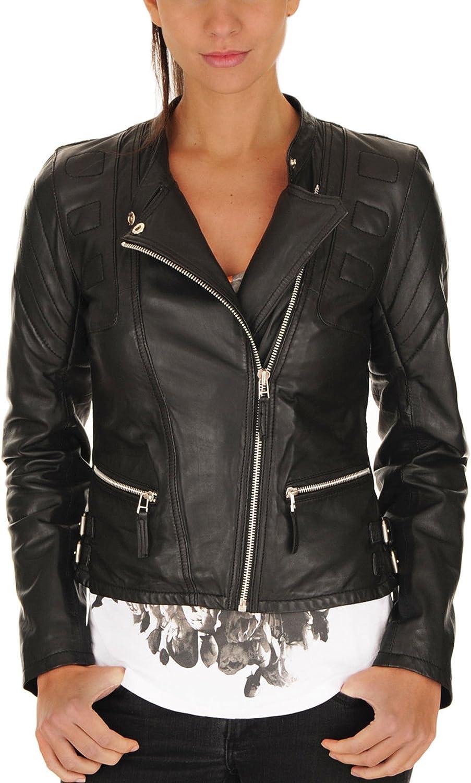 New Women Genuine Real Leather Jacket Ladies Slim Fit Biker Coat XW610